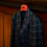 ISAIA (イザイア) POMPEI (ポンペイ) ウールシルクリネン グレンチェック サマー ジャケット BLACK (ブラック・990) Made in italy (イタリア製) 2021 春夏新作 【入荷しました】【フリー分発売開始】のイメージ