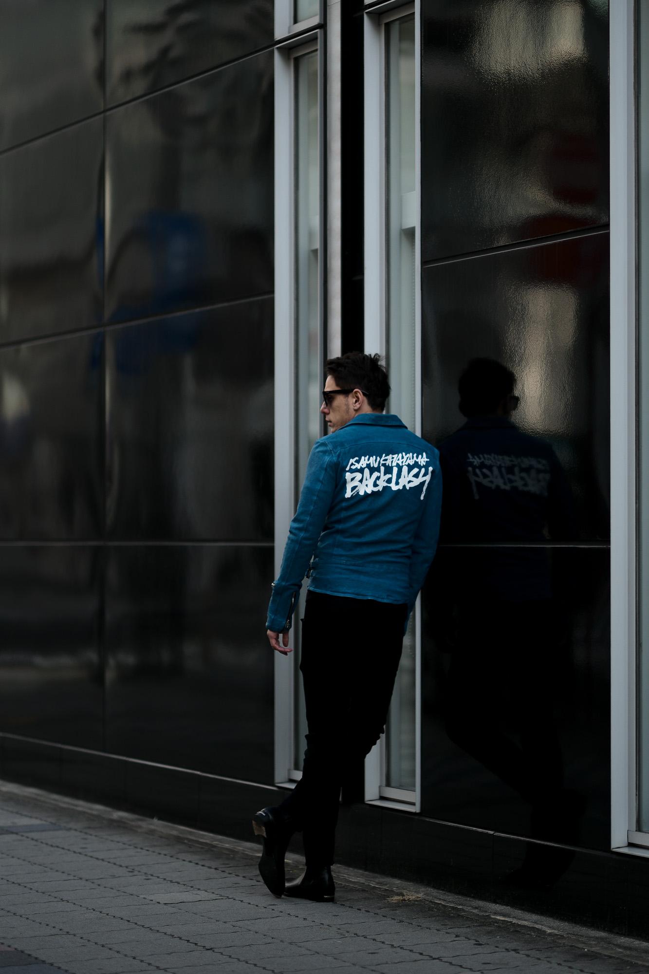 ISAMU KATAYAMA BACKLASH (イサムカタヤマ バックラッシュ) JAPAN CALF DOUBLE RIDERS No.1927-01 (ジャパン カーフ ダブルライダース) レザー ダブルライダース ジャケット TURQUOISE(ターコイズ) MADE IN JAPAN (日本製) 2021 春夏 【Special Model】【Alto e Diritto別注】【カタヤマ氏直筆スペシャルバックプリント】愛知 名古屋 Alto e Diritto アルトエデリット レザージャケット ライダースジャケット