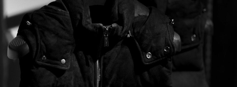 """MOORER """"FAYER-UR"""" Suede Leather NERO,BLUE 2021AW 【Alto e Diritto別注】【Special Model】 ムーレー フェイヤー スエードレザー ダウンベスト ブラック ネイビー 愛知 名古屋 Alto e Diritto altoediritto アルトエデリット スペシャルモデル 別注 レザーダウンベスト スエードレザーダウンベスト"""