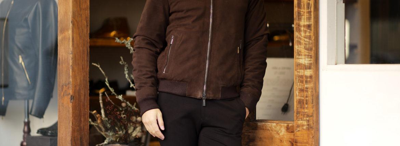 "MOORER ""ONIRO/FUR-NK"" Suede Leather Down Jacket NERO(ブラック・08) 2021秋冬 【ご予約受付中】愛知 名古屋 Alto e Dirtto altoediritto アルトエデリット ムーレー ダウンジャケット BRET ONIRO FANTONI BOLGI BOND FAYER HELSINKI HARRIS BARBIERI SIRO MORRIS ダウンコート ダウンベスト ダウン"