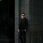 TAGLIATORE (タリアトーレ) PINO LERARIO (ピーノ レラリオ) Stretch Summer Wool Jacket サマーウール ストレッチ シングル ピークドラペル ジャケット BLACK (ブラック) Made in italy (イタリア製) 2021 春夏 【ご予約受付中】のイメージ
