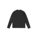 ZANONE (ザノーネ) Long Sleeve Crew Neck T-shirt (ロングスリーブ クルーネック Tシャツ) ice cotton アイスコットン ロングスリーブ Tシャツ BLACK (ブラック・Z0015) MADE IN ITALY(イタリア製) 2021 春夏新作のイメージ