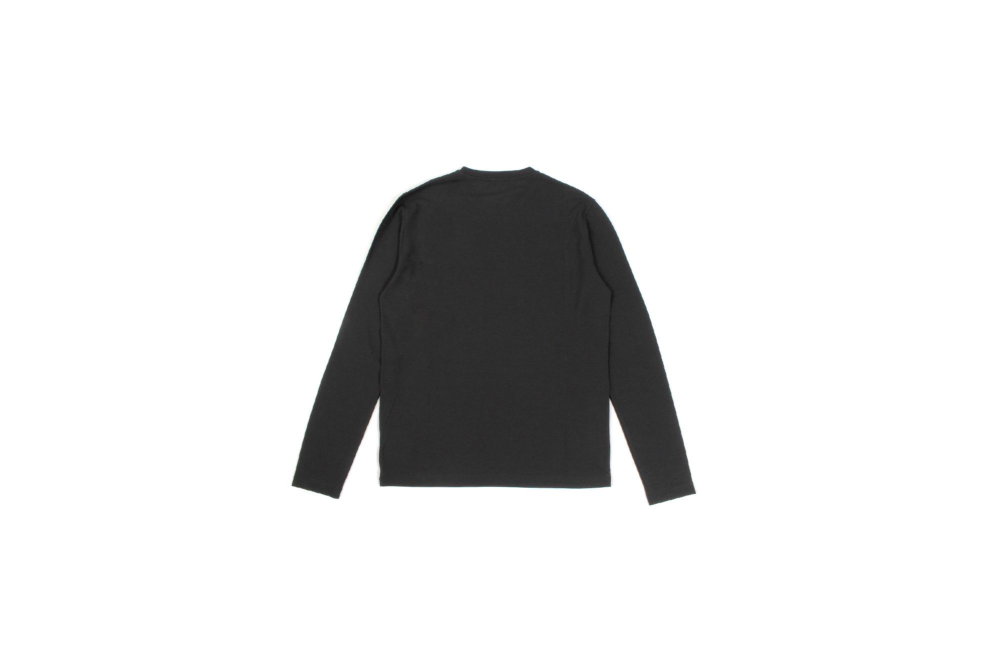 ZANONE (ザノーネ) Long Sleeve Crew Neck T-shirt (ロングスリーブ クルーネック Tシャツ) ice cotton アイスコットン ロングスリーブ Tシャツ BLACK (ブラック・Z0015) MADE IN ITALY(イタリア製) 2021 春夏新作 愛知 名古屋 Alto e Diritto altoediritto アルトエデリット ロンT