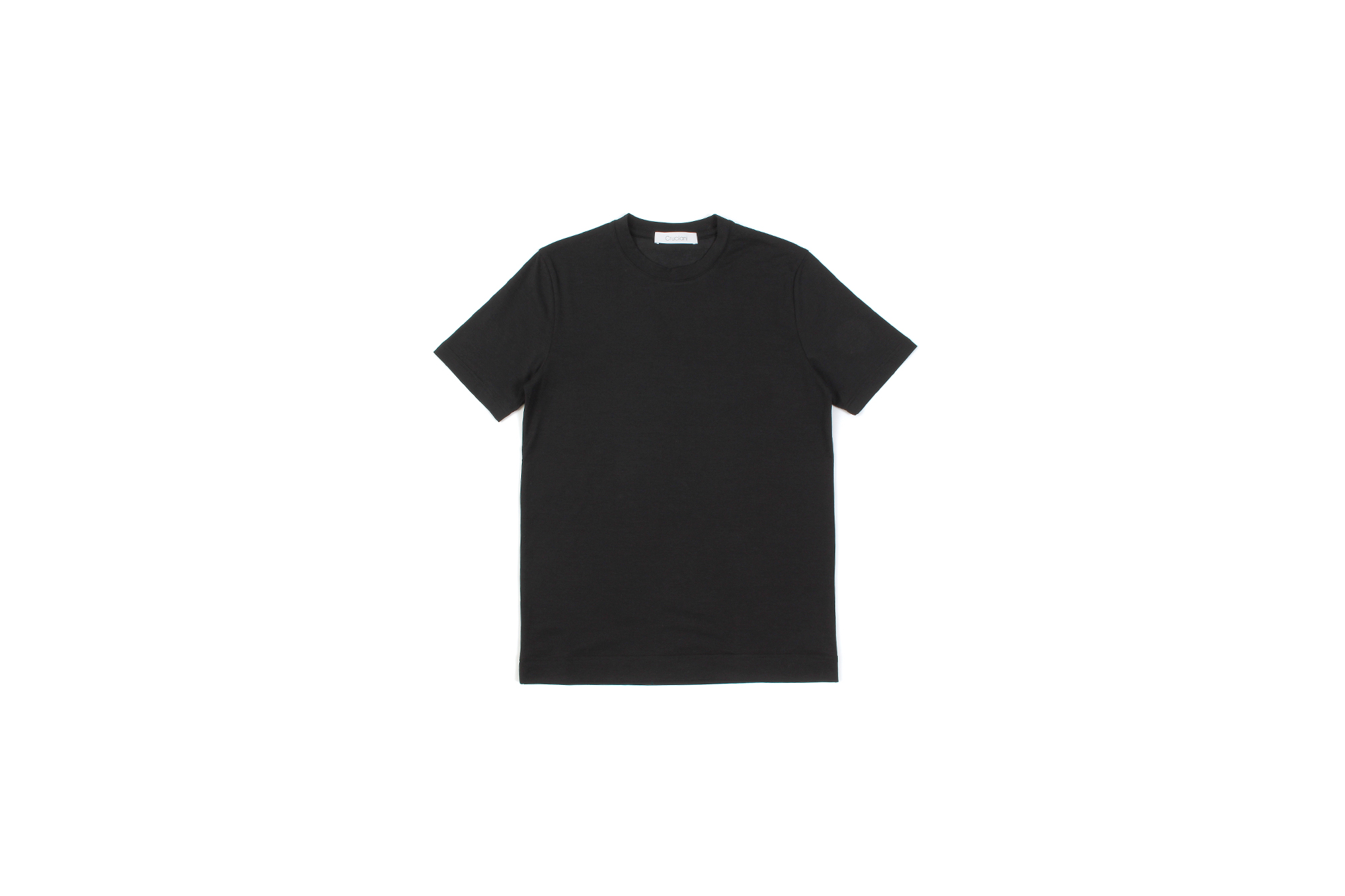 Cruciani (クルチアーニ) Cotton Stretch Crew Neck T-shirt (コットン ストレッチ クルーネック Tシャツ) クルーネック Tシャツ BLACK (ブラック・2000) made in italy (イタリア製) 2021 春夏新作 愛知 名古屋 Alto e Diritto altoediritto アルトエデリット Tシャツ ニットTシャツ