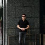 Cruciani (クルチアーニ) Cotton Stretch Polo Shirt コットン ストレッチ ポロシャツ BLACK (ブラック・2000) made in italy (イタリア製) 2021 春夏新作のイメージ