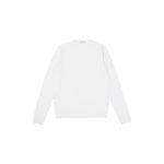 Cruciani (クルチアーニ) 27G Knit Crew Neck Sweater (27ゲージ クルーネック セーター) 27ゲージ ハイゲージ コットン ニット セーター WHITE (ホワイト・Z0001) made in italy (イタリア製) 2021 春夏新作 【入荷しました】【フリー分発売開始】のイメージ