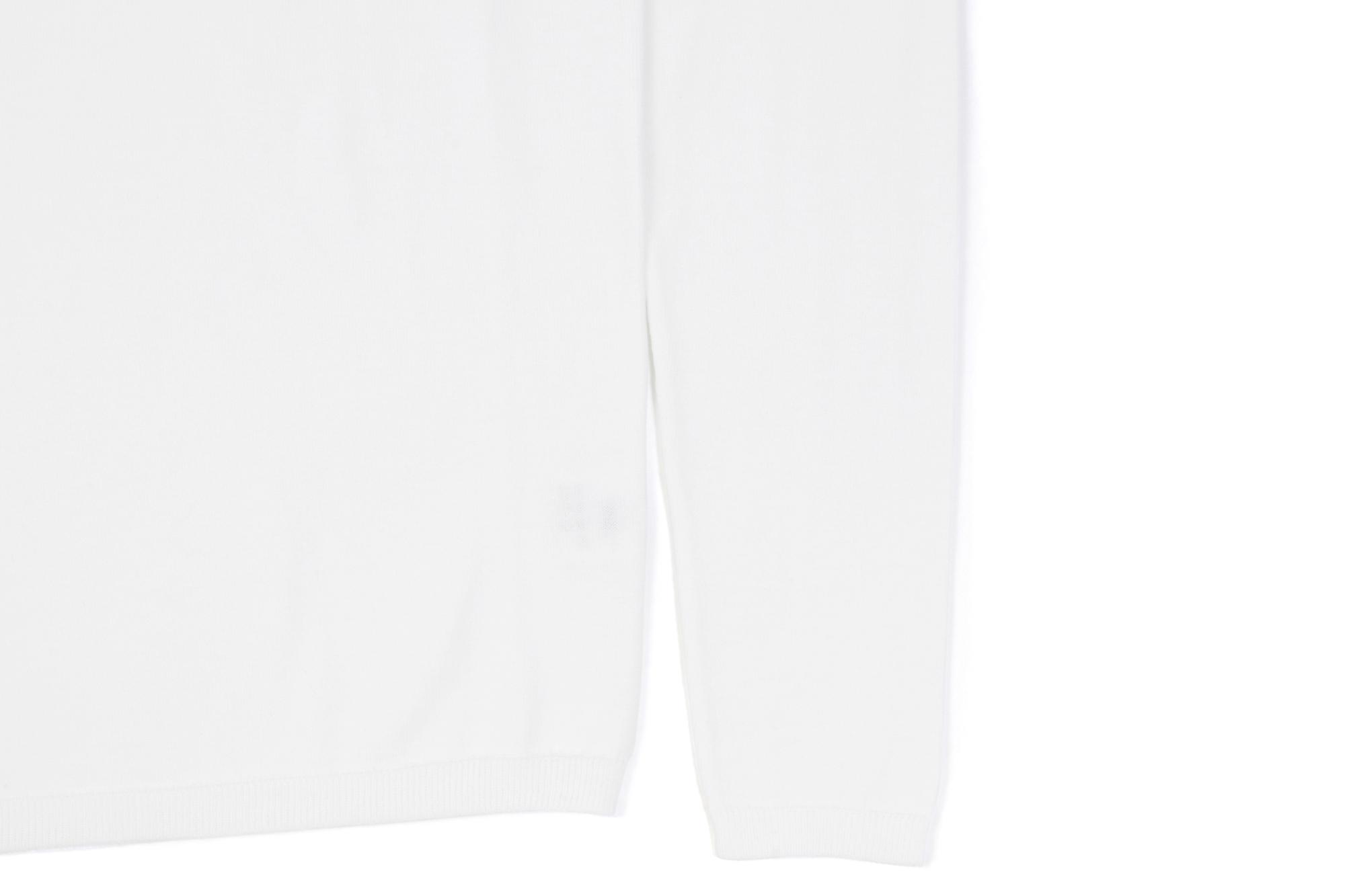 Cruciani (クルチアーニ) 27G Knit Crew Neck Sweater (27ゲージ クルーネック セーター) 27ゲージ ハイゲージ コットン ニット セーター WHITE (ホワイト・Z0001) made in italy (イタリア製) 2021 春夏新作 【入荷しました】【フリー分発売開始】愛知 名古屋 Alto e Diritto altoediritto アルトエデリット ロングスリーブ 長袖ニット