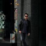 cuervo bopoha(クエルボ ヴァローナ) Satisfaction Leather Collection (サティスファクション レザー コレクション) LEON (レオン) BUFFALO LEATHER (バッファロー レザー) シングル テーラード ジャケット BLACK (ブラック) MADE IN JAPAN (日本製) 2021 春夏新作 【入荷しました】【フリー分発売開始】のイメージ