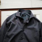 cuervo bopoha (クエルボ ヴァローナ) Sartoria Collection (サルトリア コレクション) Riot (ライオット) PIN STRIPE SHIRTS ピンストライプ シャツ CHARCOAL STRIPE (チャコールストライプ) made in italy (イタリア製) 2021 春夏のイメージ