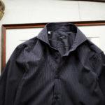 cuervo bopoha (クエルボ ヴァローナ) Sartoria Collection (サルトリア コレクション) Riot (ライオット) DOUBLE STRIPE SHIRTS ダブルストライプ シャツ NAVY STRIPE (ネイビーストライプ) made in italy (イタリア製) 2021 春夏のイメージ