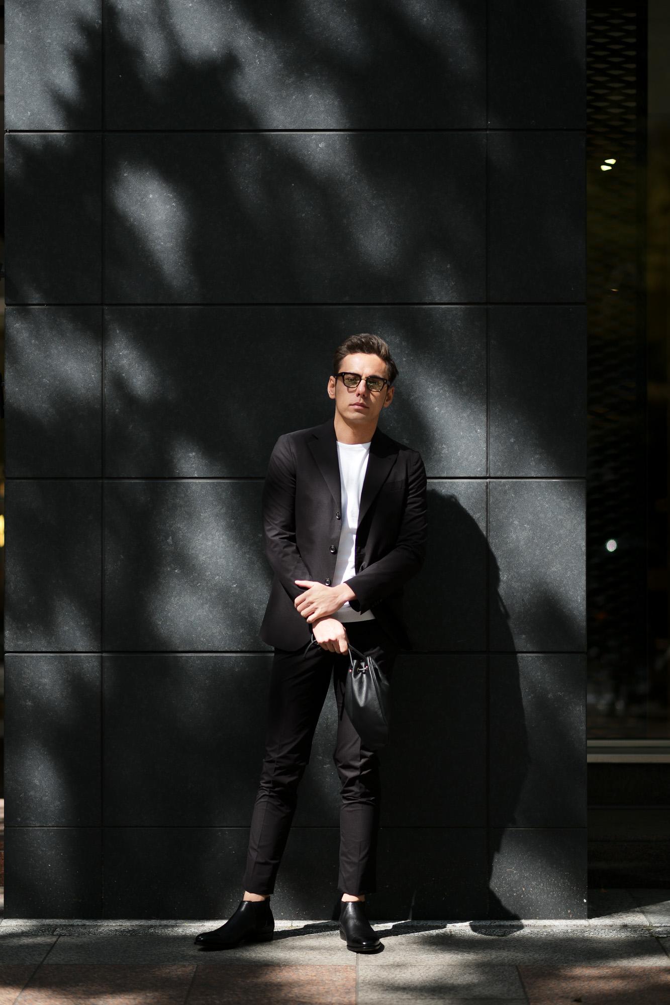cuervo bopoha (クエルボ ヴァローナ) Sartoria Collection (サルトリア コレクション) Rooster (ルースター) STRETCH NYLON ストレッチナイロン スーツ BLACK(ブラック) MADE IN JAPAN (日本製) 2021 春夏 【Special Model】 【ご予約開始】愛知 名古屋 Alto e Diritto altoediritto アルトエデリット
