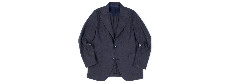Finjack (フィンジャック) Vintage Cashmere 2B Jacket ヌーヴォラライン ヴィンテージ カシミヤ ジャケット NAVY × DARK GRAY (ネイビー × ダークグレー) Made in italy (イタリア製) 【Special Model】のイメージ