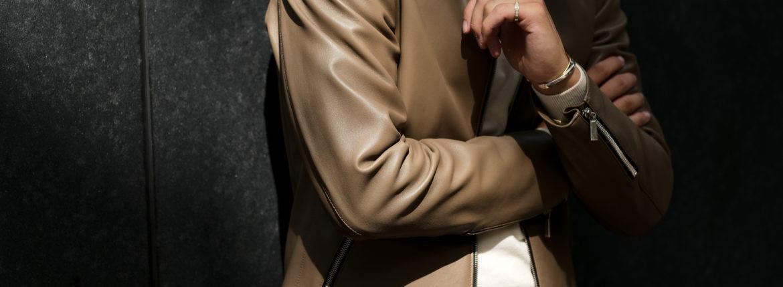 Georges de Patricia (ジョルジュ ド パトリシア) Carrera (カレラ) 925 STERLING SILVER (925 スターリングシルバー) Super Soft Sheepskin シングル ライダース ジャケット GREGE (グレージュ) 2021 georgesdepatricia ジョルジュドパトリシア カレラ ポルシェ 愛知 alto e diritto アルトエデリット altoediritto