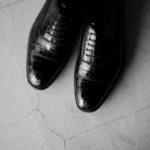 Georges de Patricia(ジョルジュ ド パトリシア) Zagato Crocodile (ザガート クロコダイル) 925 STERLING SILVER (925 スターリングシルバー) Crocodile クロコダイル エキゾチックレザー ストレートチップシューズ NOIR (ブラック) 2021 【Special Model】【ご予約受付中】のイメージ