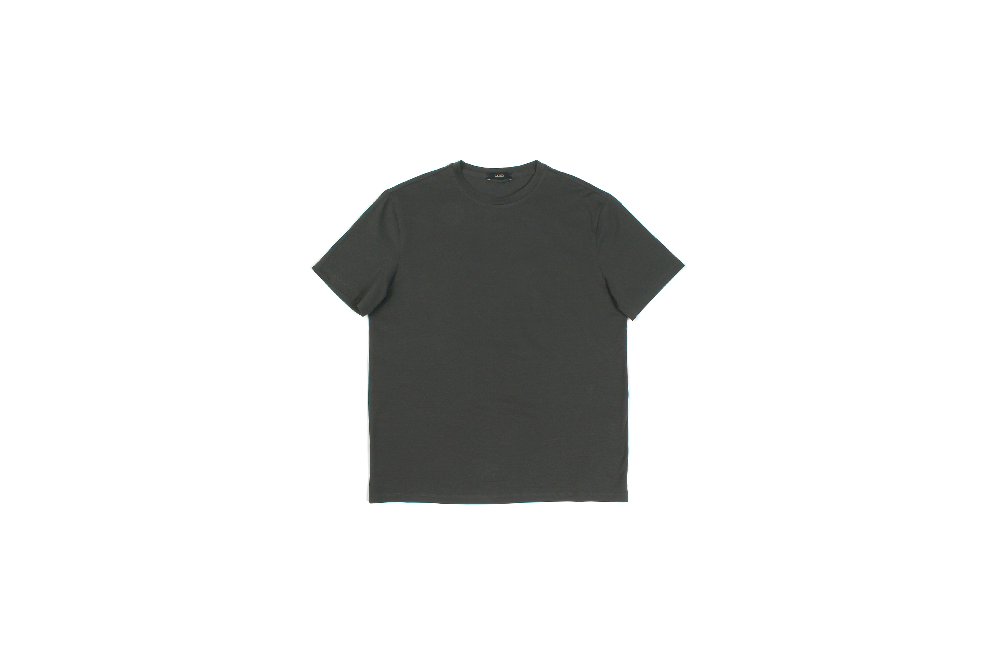 HERNO (ヘルノ) Cotton Stretch Crew Neck T-shirt (コットン ストレッチ クルーネック Tシャツ) クルーネック Tシャツ CHARCOAL (チャコール・9480) 2021 春夏新作 Alto e Diritto altoediritto アルトエデリット Tee