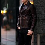 MOLEC (モレック) Double Leather Jacket (ダブル レザージャケット) PLONGE Lambskin プロンジェラムレザー ダブル ライダース ジャケット NERO (ブラック) Made in italy (イタリア製) 2021 【ご予約受付中】愛知 名古屋 Alto e Diritto altoediritto アルトエデリット ダブルライダース レザージャケット ライダースジャケット