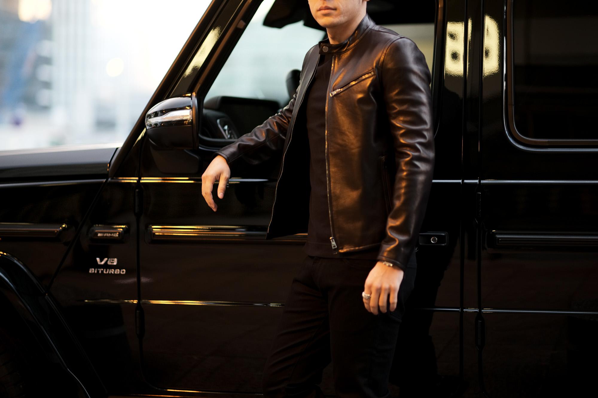 MOLEC (モレック) Single Leather Jacket (シングル レザージャケット) PLONGE Lambskin プロンジェラムレザー シングル ライダース ジャケット NERO (ブラック) Made in italy (イタリア製) 2021 愛知 名古屋 Alto e Diritto アルトエデリット  ライダースジャケット