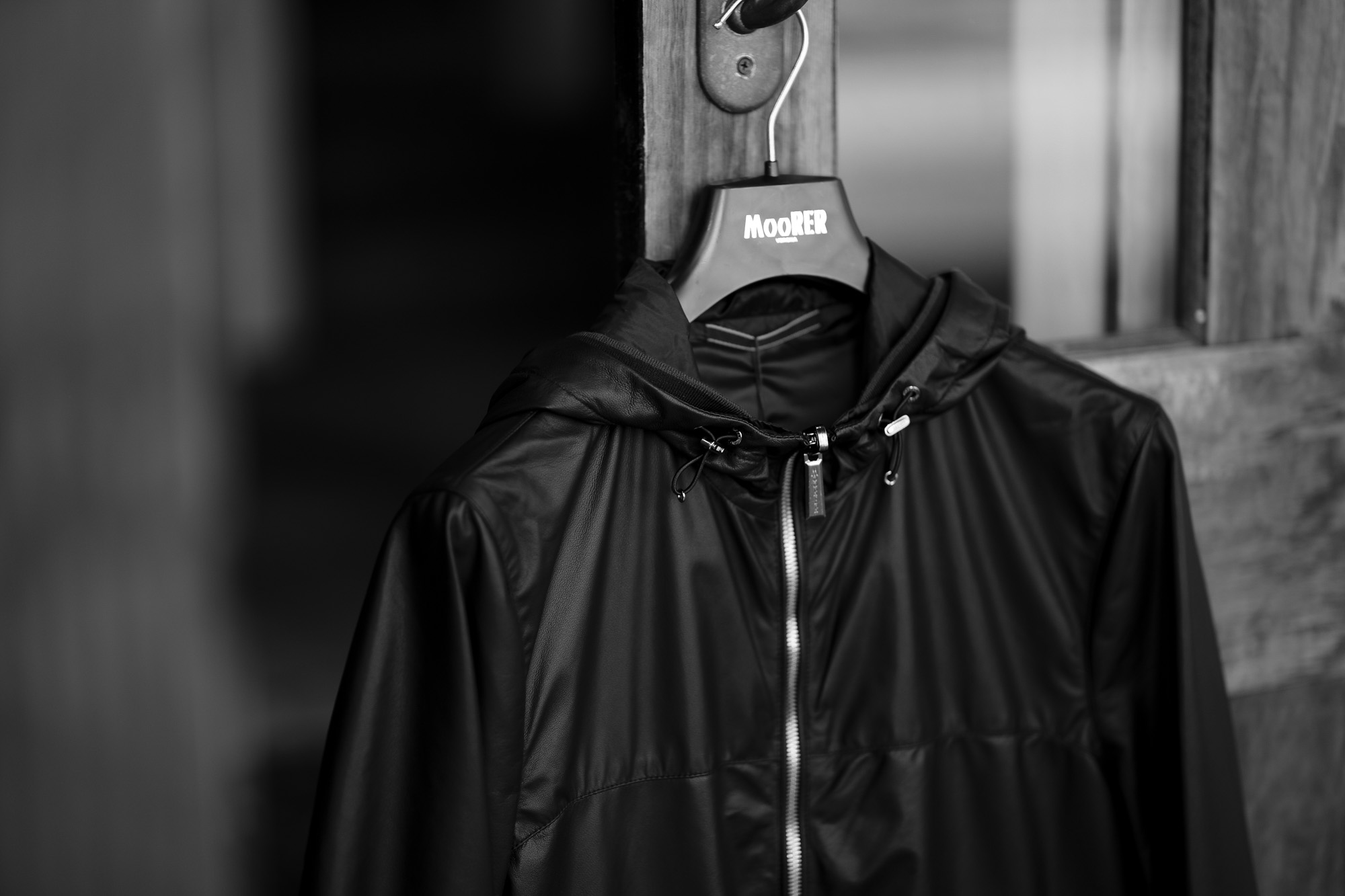 MOORER STILO-LET Hoodie Leather Jacket NERO 2021SS 【Special Model】 ムーレー レザーブルゾン 愛知 名古屋 Alto e Diritto altoediritto アルトエデリット レザージャケット フードレザー