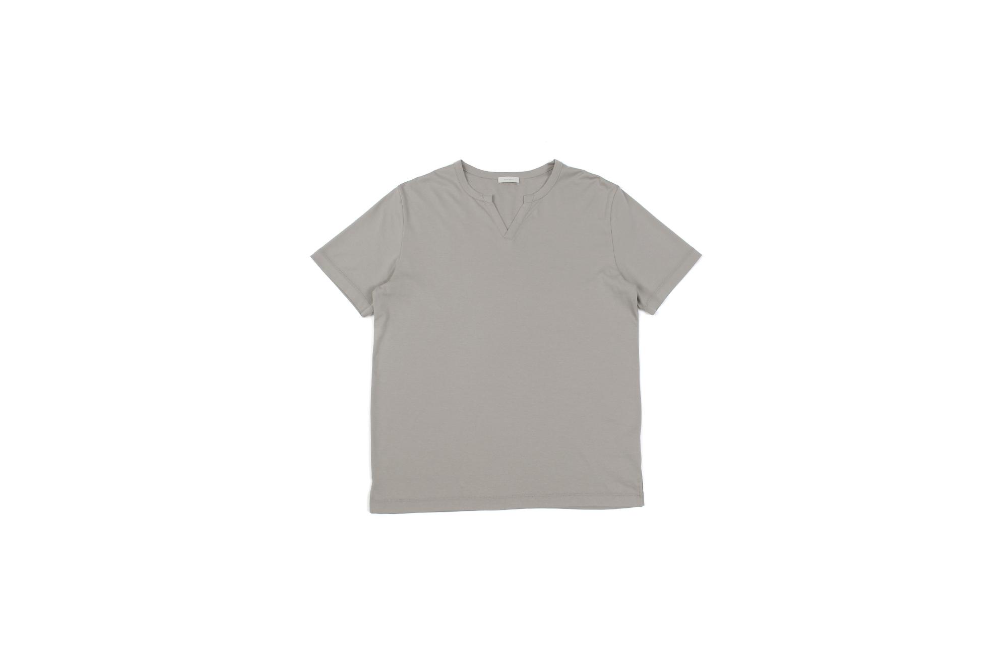 nomiamo (ノミアモ) SUPIMA 80/1 Key Neck T-shirt スーピマコットン キーネック Tシャツ GREGE (グレージュ) 2021 春夏 【Alto e Diritto別注】【Special限定モデル】【ご予約受付中】 愛知 名古屋 Altoediritto アルトエデリット カットソー 半袖Tシャツ