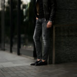 PT TORINO DENIM (ピーティートリノデニム) ROCK (ロック) SKINNY FIT (スキニーフィット) ストレッチ クラッシュ デニムパンツ BLACK (ブラック・LT24) 2021春夏 【Special Model】【ご予約受付中】【 国内2店舗限定展開】【菅原靴店 // Alto e Diritto】のイメージ
