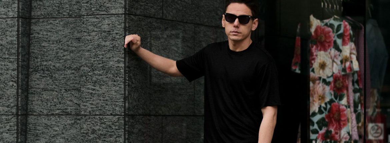 RIVORA (リヴォラ) Vintage Linen Layered T-Shirts ヴィンテージ リネン レイヤード Tシャツ BLACK (ブラック・010) MADE IN JAPAN (日本製) 2021 春夏新作のイメージ