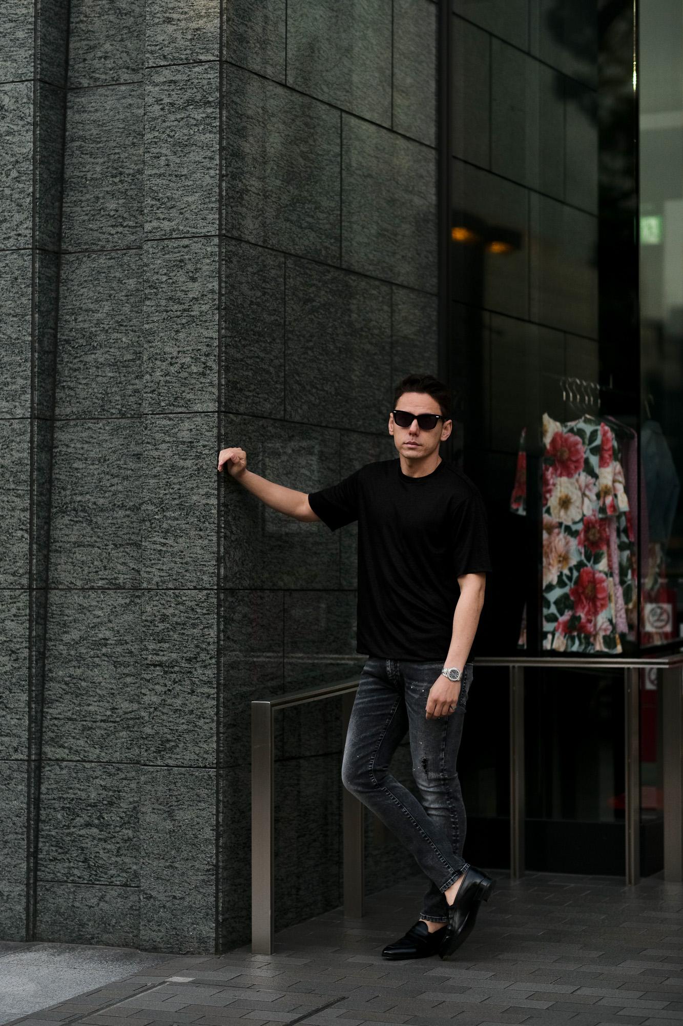 RIVORA (リヴォラ) Vintage Linen Layered T-Shirts ヴィンテージ リネン レイヤード Tシャツ BLACK (ブラック・010) MADE IN JAPAN (日本製) 2021 春夏新作 【入荷しました】【フリー分発売開始】愛知 名古屋 Alto e Diritto altoediritto アルトエデリット 半袖TEE