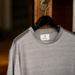 RIVORA (リヴォラ) Vintage Linen Layered T-Shirts ヴィンテージ リネン レイヤード Tシャツ GRAY (グレー・020) MADE IN JAPAN (日本製) 2021 春夏新作 【入荷しました】【フリー分発売開始】のイメージ