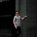 RIVORA (リヴォラ) Vintage Linen Layered T-Shirts ヴィンテージ リネン レイヤード Tシャツ GRAY (グレー・020) MADE IN JAPAN (日本製) 2021 春夏新作のイメージ