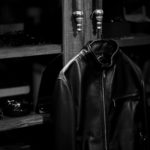 SILENCE (サイレンス) Single Leather Jacket (シングルレザー ジャケット) Goatskin Leather (ゴートスキンレザー) シングル ライダース ジャケット NERO GOLD ZIP (ブラックゴールドジップ) Made in italy (イタリア製) 2021 春夏 【第3弾入荷しました】【フリー分発売開始】のイメージ