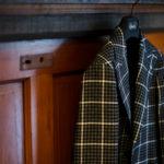 TAGLIATORE (タリアトーレ) PINO LERARIO (ピーノ レラリオ) Linen Cotton Summer Tweed Jacket リネンコットン サマーツイード チェック シングル ピークドラペル ジャケット BLACK × WHITE (ブラック×ホワイト) Made in italy (イタリア製) 2021 春夏新作 【入荷しました】【フリー分発売開始】のイメージ