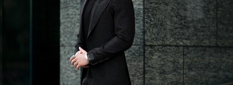 TAGLIATORE (タリアトーレ) PINO LERARIO (ピーノ レラリオ) Stretch Summer Wool Jacket サマーウール ストレッチ シングル ピークドラペル ジャケット BLACK (ブラック) Made in italy (イタリア製) 2021 春夏新作 【入荷しました】【フリー分発売開始】のイメージ