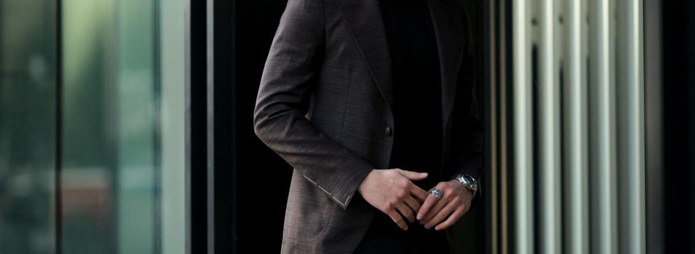 TAGLIATORE (タリアトーレ) PINO LERARIO (ピーノ レラリオ) Summer Wool Jacket サマーウール シングル ピークドラペル ジャケット Made in italy (イタリア製) WINE (ワイン) 2021 春夏新作 【入荷しました】【フリー分発売開始】のイメージ