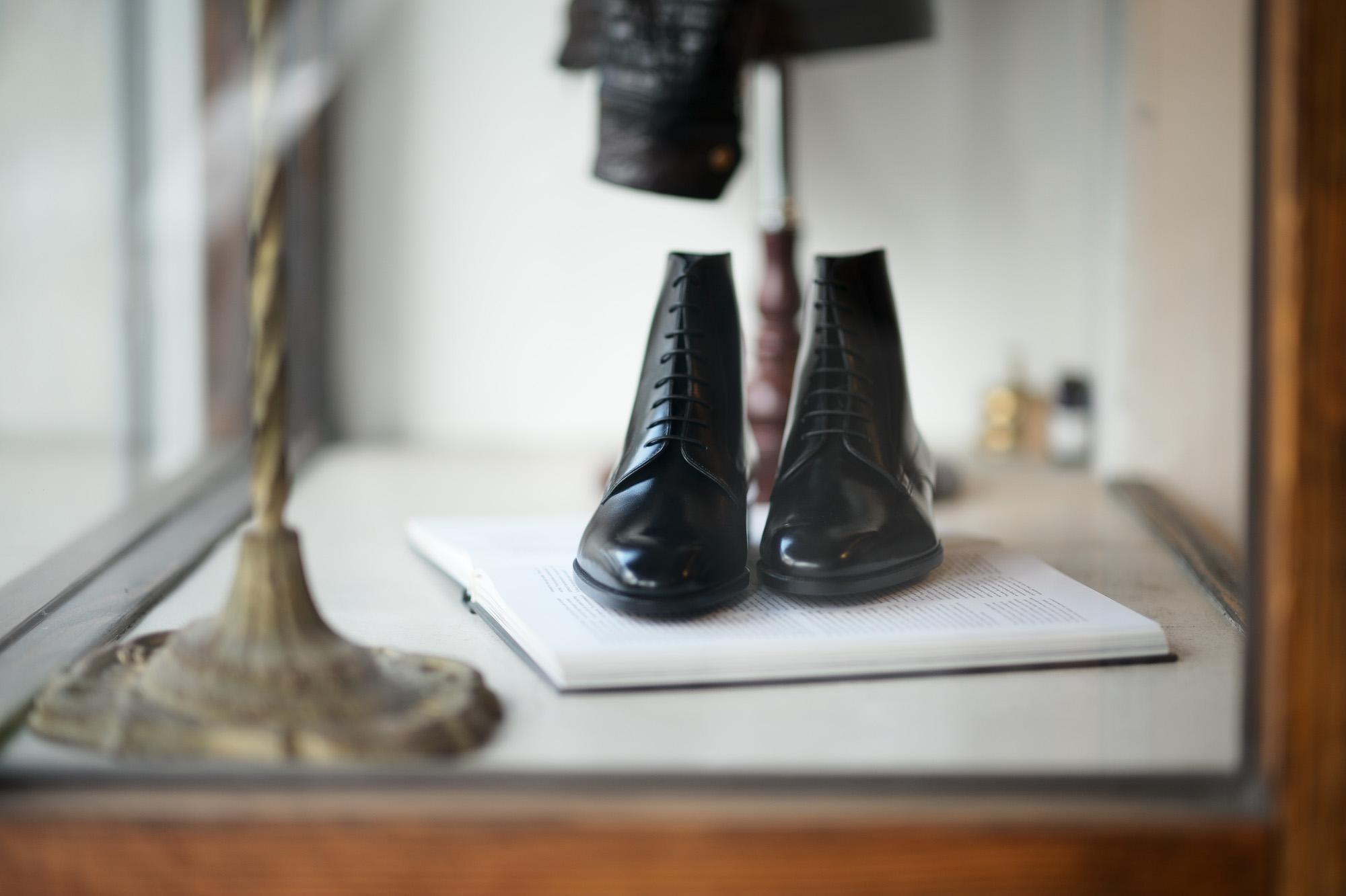 AUBERCY (オーベルシー) HUGH Lace up boots (ヒュー) Du Puy Vitello デュプイ社ボックスカーフ レースアップブーツ NERO (ブラック) made in italy (イタリア製) 2021 春夏 愛知 名古屋 Alto e Diritto altoediritto アルトエデリット ブーツ 編み上げブーツ ドレスブーツ
