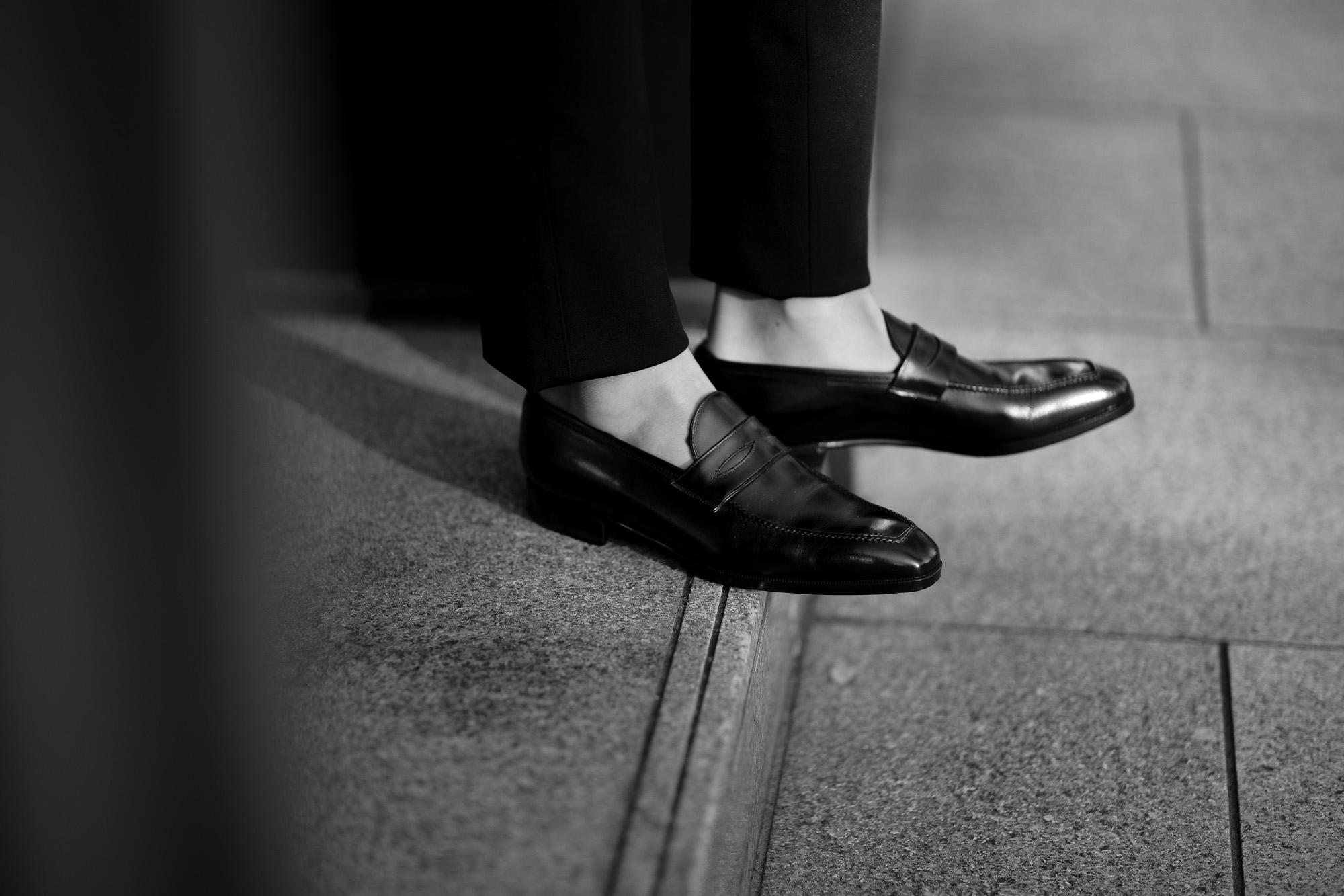 AUBERCY (オーベルシー) LUPIN 3565 Coin Loafer (ルパン) Du Puy Vitello デュプイ社ボックスカーフ ドレスシューズ ローファー NERO (ブラック) made in italy (イタリア製) 2020 秋冬新作 オーベルシー ルパン ヴィッテロレザー カーフレザー コインローファー ブラック ローファー ドレスシューズ 日本代理店 愛知 名古屋 altoediritto アルトエデリット