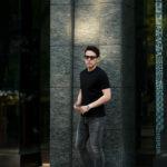 cuervo bopoha (クエルボ ヴァローナ) Sartoria Collection (サルトリア コレクション) Lewis (ルイス) GIZA45 ギザコットン Tシャツ BLACK (ブラック) MADE IN JAPAN (日本製) 2021 春夏新作 【入荷しました】【発売開始】のイメージ