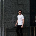 cuervo bopoha (クエルボ ヴァローナ) Sartoria Collection (サルトリア コレクション) Lewis (ルイス) GIZA45 ギザコットン Tシャツ WHITE (ホワイト) MADE IN JAPAN (日本製) 2021 春夏新作 【入荷しました】【発売開始】のイメージ