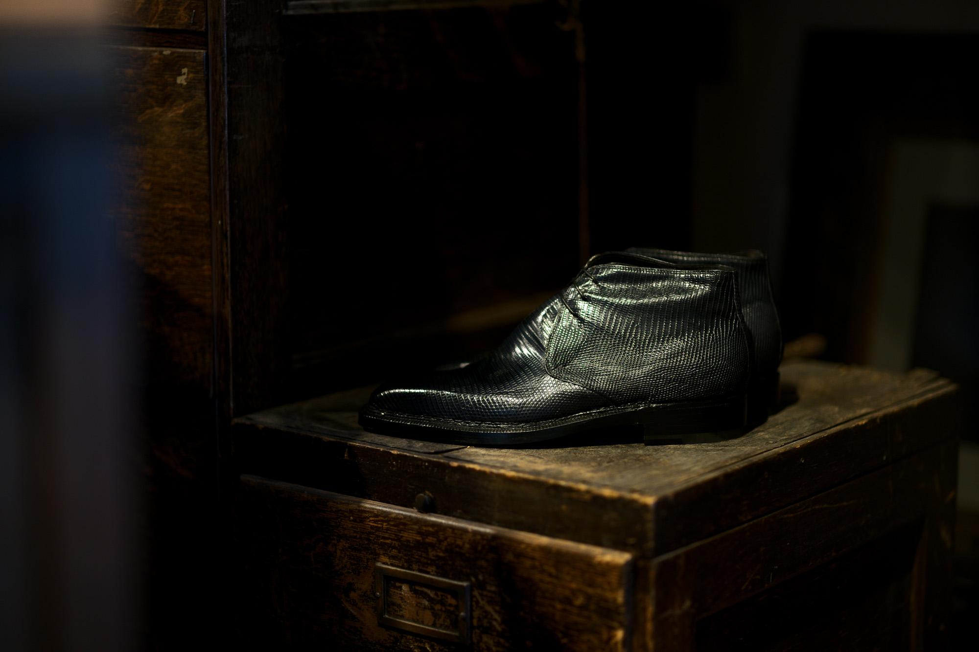 "ENZO BONAFE ""ART.3722"" Chukka boots LIZARD BLUE 2021 【Special Model】ENZO BONAFE (エンツォボナフェ) ART.3722 Chukka boots LIZARD (リザード) リザードレザー チャッカブーツ BLUE (ブルー) made in italy (イタリア製) 2021 愛知 名古屋 Alto e Diritto altoediritto アルトエデリット"