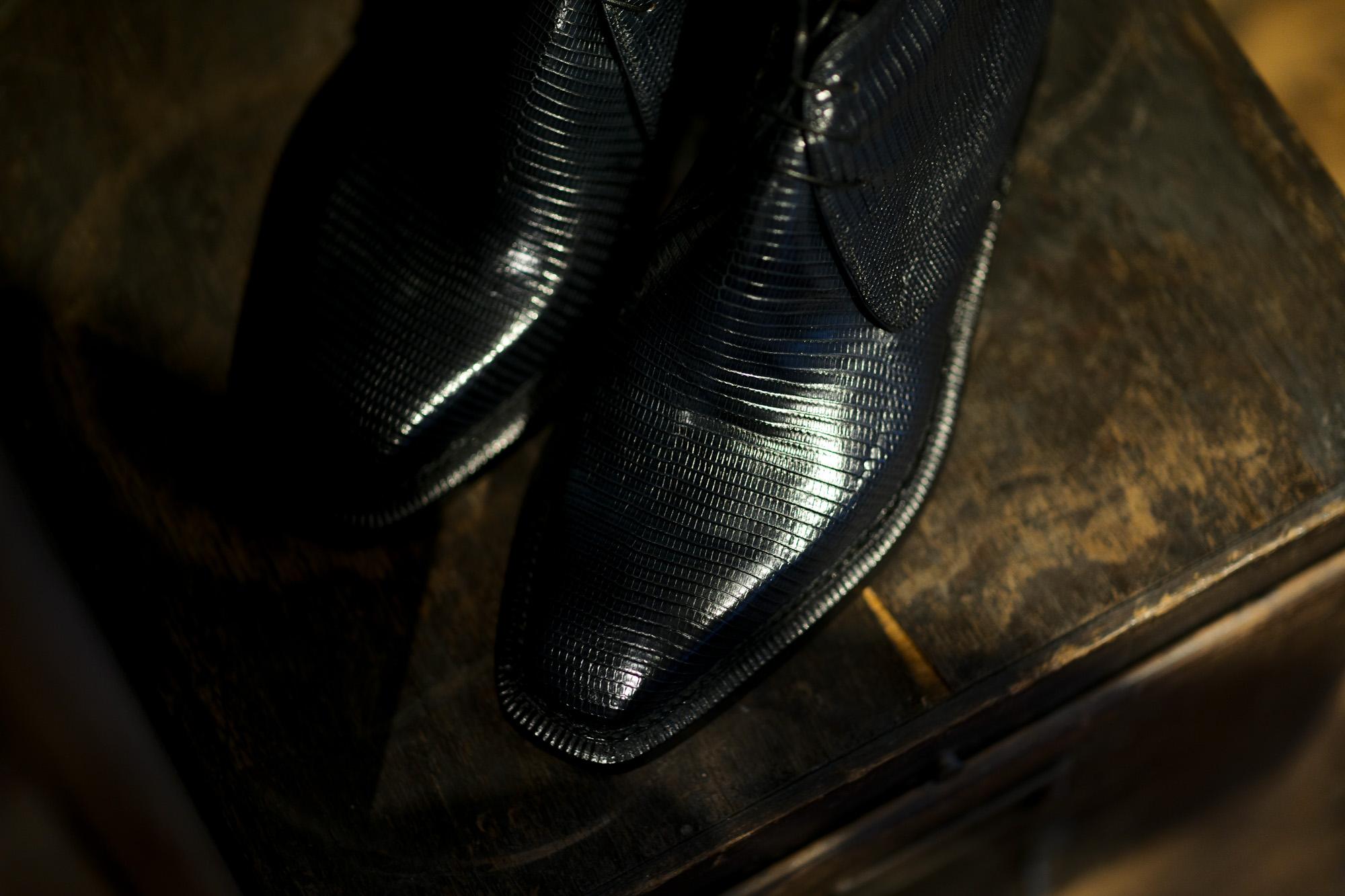 ENZO BONAFE (エンツォボナフェ) ART.3722 Chukka boots LIZARD (リザード) リザードレザー チャッカブーツ BLUE (ブルー) made in italy (イタリア製) 2021 愛知 名古屋 Alto e Diritto altoediritto アルトエデリット