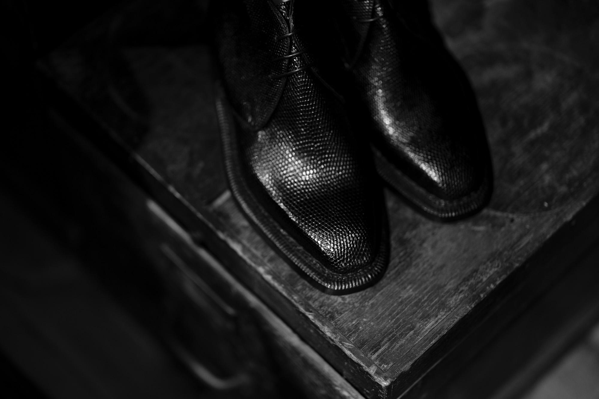 ENZO BONAFE (エンツォボナフェ) ART.3722 Chukka boots LIZARD (リザード) リザードレザー チャッカブーツ NERO (ブラック) made in italy (イタリア製) 2021 愛知 名古屋 Alto e Diritto altoediritto アルトエデリット