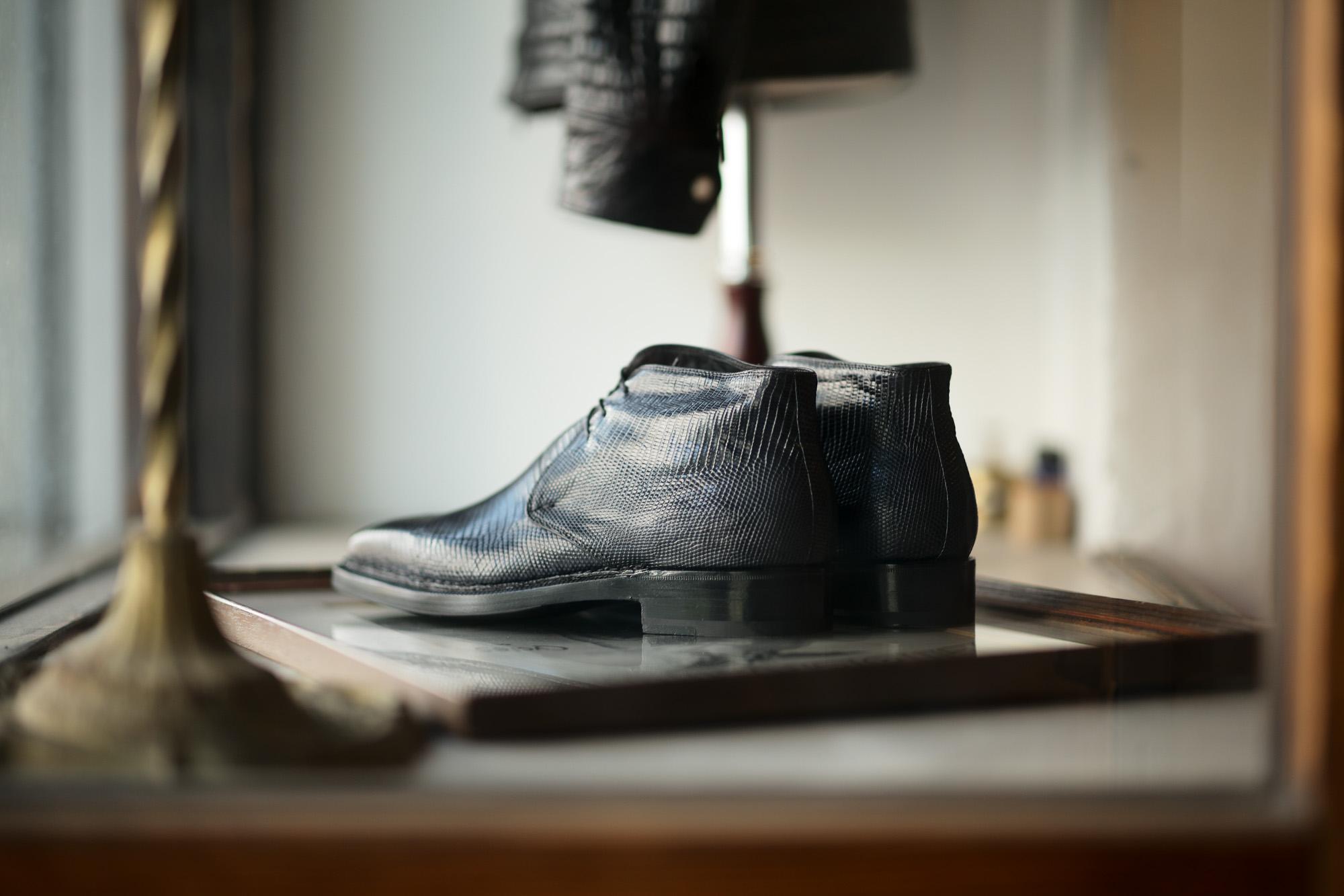 ENZO BONAFE (エンツォボナフェ) ART.3722 Chukka boots Lizard Leather リザード エキゾチックレザー チャッカブーツ BLUE (ブルー) made in italy (イタリア製) 2021 【Special Model】愛知 名古屋 Alto e Diritto altoediritto アルトエデリット