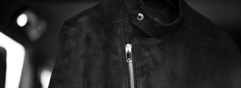 """FIXER F1 DOUBLE RIDERS """"Cashmere Suede Leather"""" BLACK フィクサー エフワン ダブルライダース カシミヤスエードレザー カシミアスエード ブラック レザージャケット ライダースジャケット 愛知 名古屋 Alto e Diritto altoediritto アルトエデリット"""