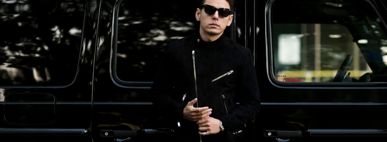 FIXER(フィクサー) F1(エフワン) DOUBLE RIDERS Cashmere Suede Leather ダブルライダース ジャケット BLACK(ブラック) 愛知 名古屋 Alto e Diritto altoediritto アルトエデリット レザージャケット ダブルレザー