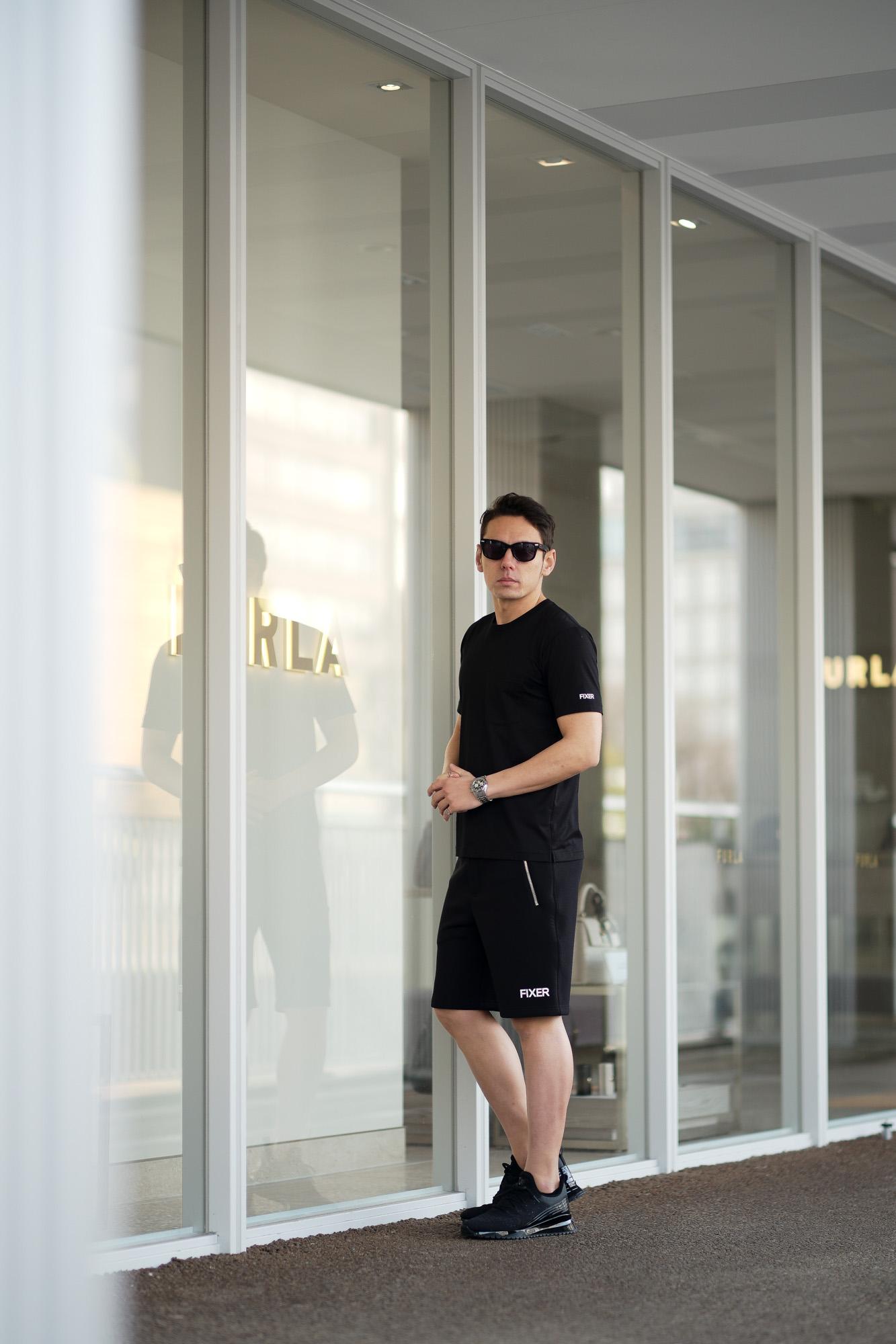 FIXER (フィクサー) FTS-01(エフティーエス01) 2 Print Crew Neck T-shirt 2プリントTシャツ BLACK (ブラック) 【ご予約開始】【2021.4.17(Sat)~2021.5.03(Mon)】 愛知 名古屋 Alto e Diritto altoediritto アルトエデリット Tシャツ スペシャルモデル 半袖TEE