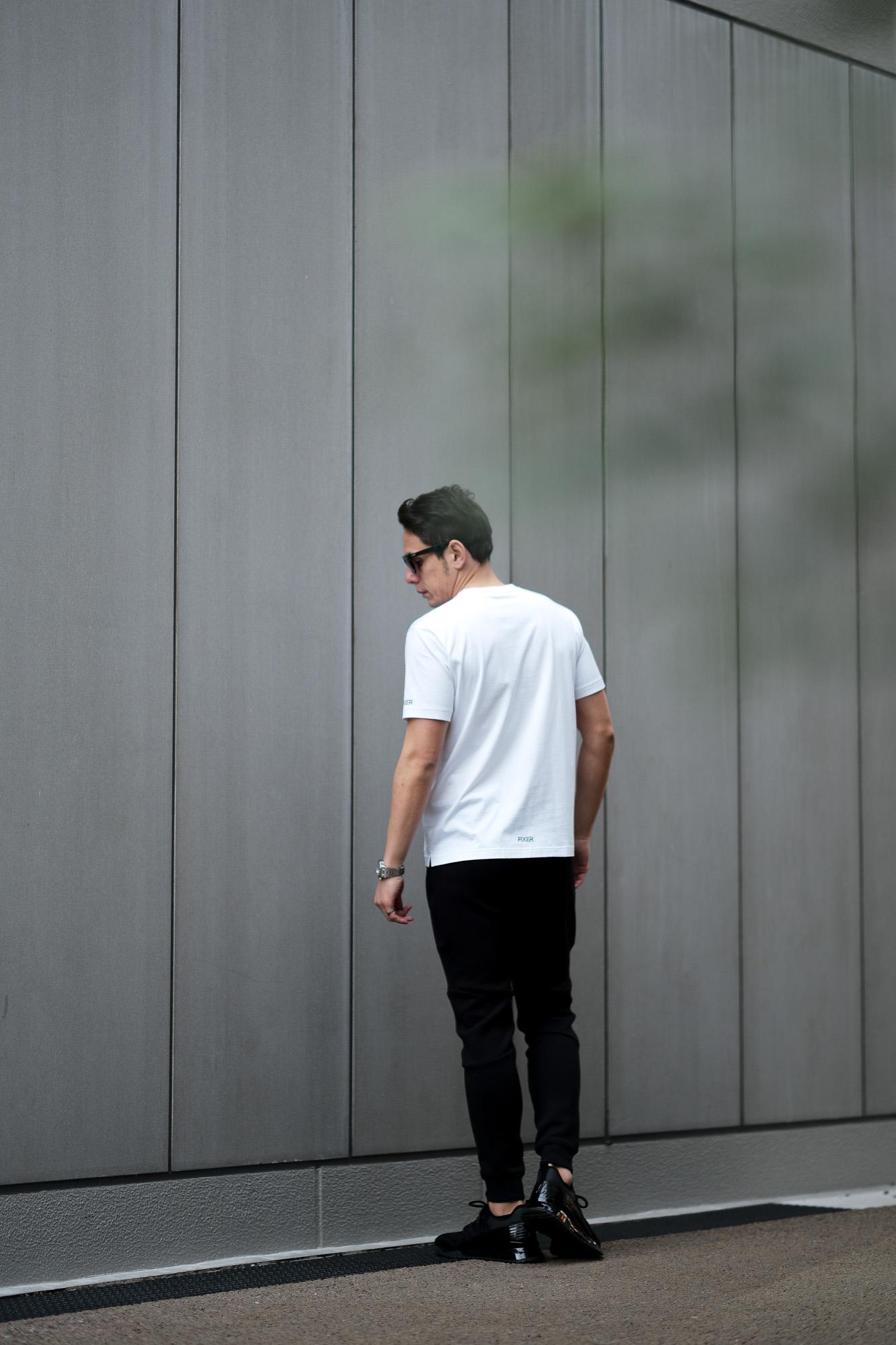 FIXER (フィクサー) FTS-01(エフティーエス01) 2 Print Crew Neck T-shirt 2プリントTシャツ WHITE (ホワイト) 【発売中】 愛知 名古屋 Alto e Diritto altoediritto アルトエデリット Tシャツ スペシャルモデル 半袖TEE