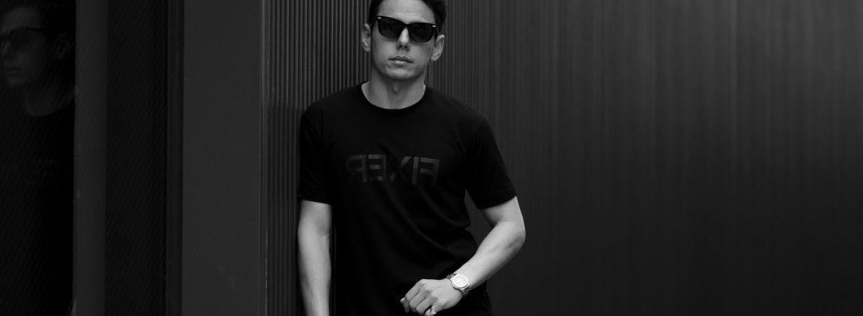 FIXER FTS-03 Reverse Print Crew Neck T-shirt ALL BLACK フィクサー リバースプリント Tシャツ オールブラック 愛知 名古屋 Alto e Diritto altoediritto アルトエデリット