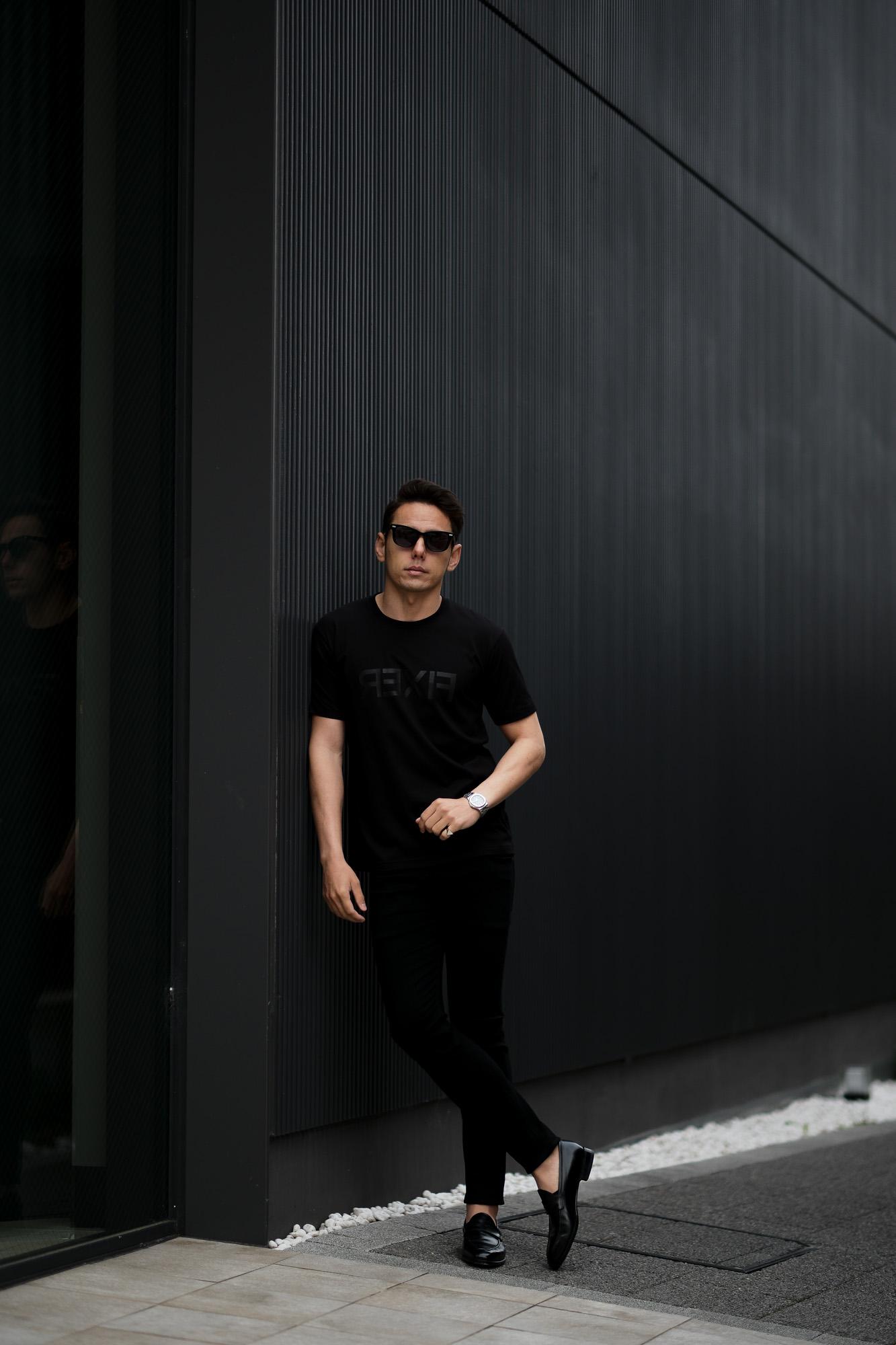 FIXER (フィクサー) FTS-03 Reverse Print Crew Neck T-shirt リバースプリント Tシャツ ALL BLACK (オールブラック) 【ご予約開始】【2021.4.17(Sat)~2021.5.03(Mon)】 愛知 名古屋 Alto e Diritto altoediritto アルトエデリット