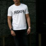 FIXER (フィクサー) FTS-03 Reverse Print Crew Neck T-shirt リバースプリント Tシャツ WHITE (ホワイト) 【ご予約受付中】【2021.4.17(Sat)~2021.5.03(Mon)】のイメージ