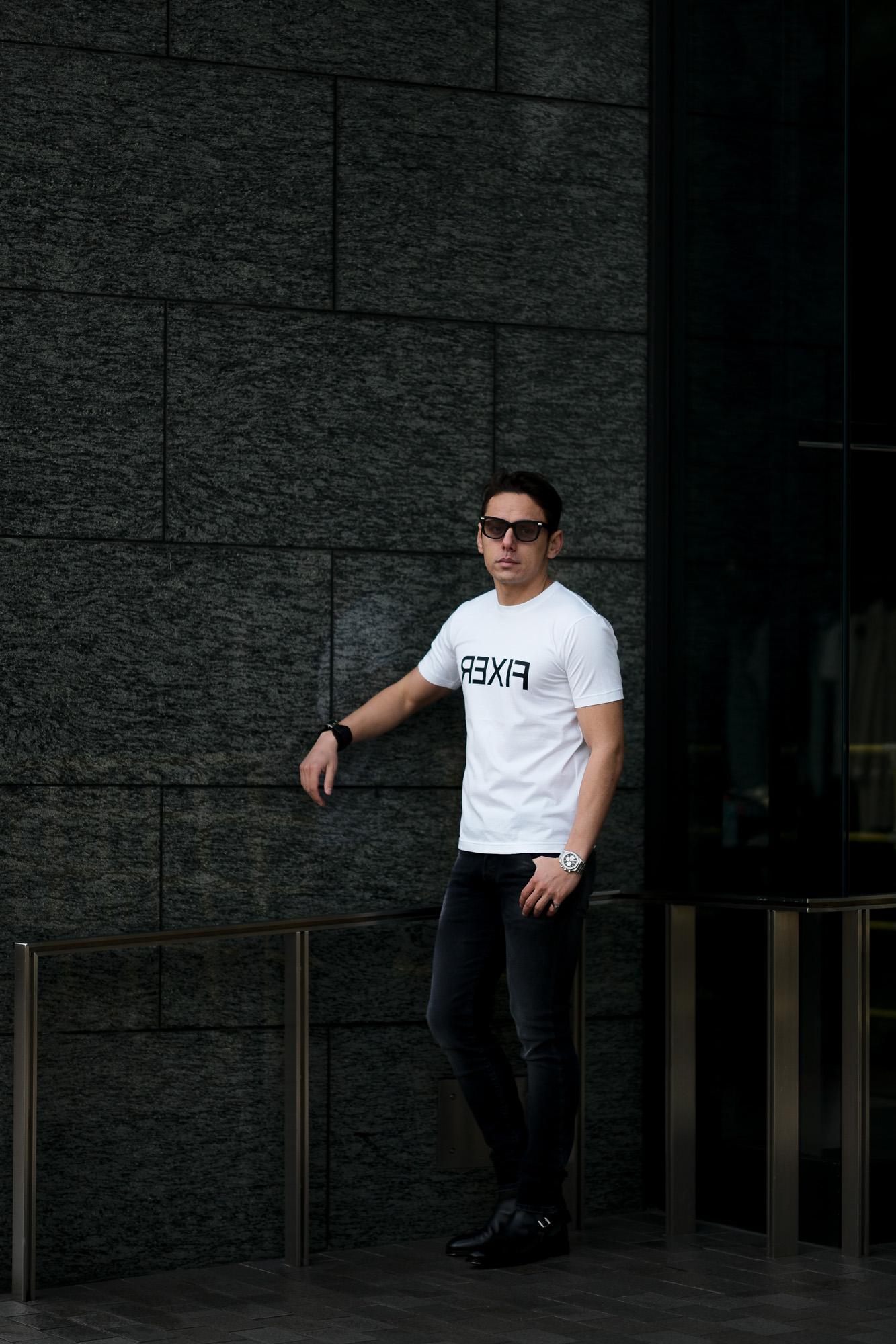FIXER (フィクサー) FTS-03 Reverse Print Crew Neck T-shirt リバースプリント Tシャツ WHITE (ホワイト) 【ご予約開始】【2021.4.17(Sat)~2021.5.03(Mon)】 愛知 名古屋 Alto e Diritto altoediritto アルトエデリット Tシャツ