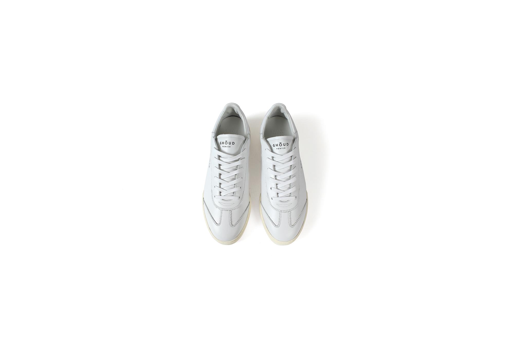 GHOUD (ゴード) LOB 01 レザースニーカー WHITE/WHITE (ホワイト/ホワイト) made in italy (イタリア製) 2021 春夏新作 愛知 名古屋 ALto e Diritto altoediritto アルトエデリット 白スニーカー