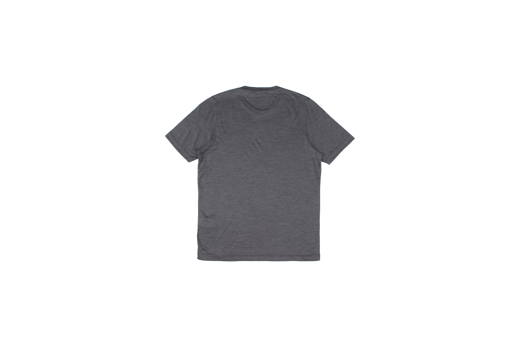 Gran Sasso (グランサッソ) Silk T-shirt (シルク Tシャツ) SETA (シルク 100%) ショートスリーブ シルク Tシャツ GREY (グレー・264) made in italy (イタリア製) 2021 春夏新作 愛知 名古屋 Alto e Diritto altoediritto アルトエデリット